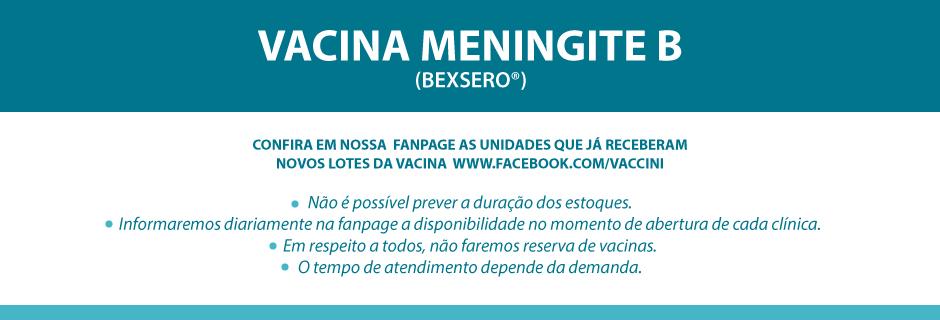 Vacina Meningite B (BEXSERO®)